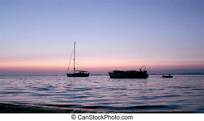 Ria Formosa - Dawn Boat Silhouette - Boats silhouette at...