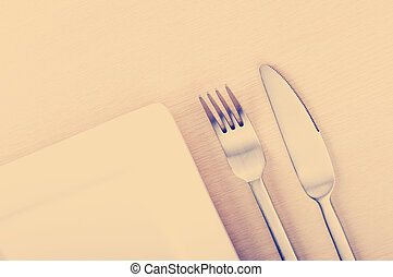 Knife, Fork and Plate