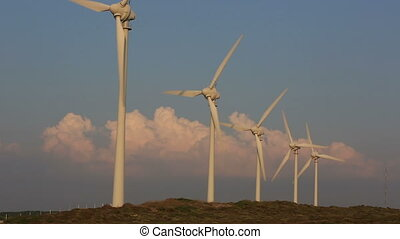 wind turbines generating power 10