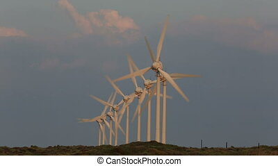 wind turbines generating power 6