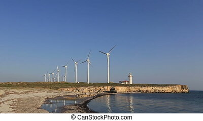 wind turbines generating power 8