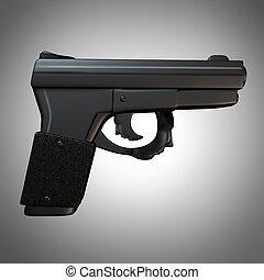 Gun Issues - Gun issues and firearm laws concept as a...