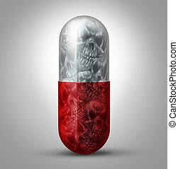 Prescription Drug Abuse - Prescription drug abuse concept as...