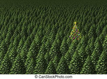 mágico, navidad, árbol