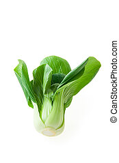 bok choy (chinese cabbage) isolated on white background -...
