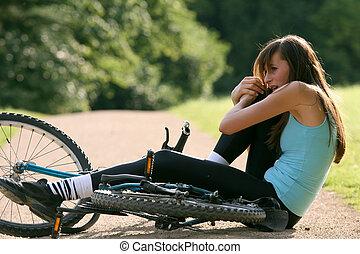 事故, 自転車