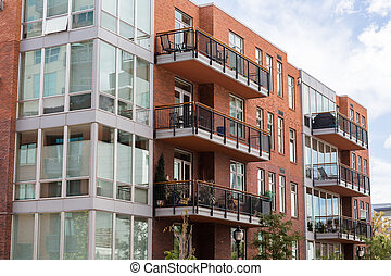 Condominiums - Contemporary condominiums in downtown Denver,...