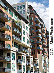 Condominiums - Contemporary condominiums in downtown Denver,...