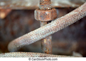 Detail of rusted chain