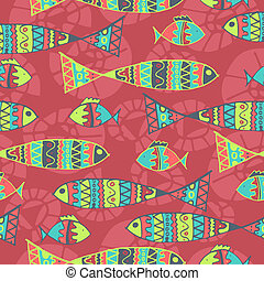 Vector background aboriginal style symbolic seamless design.