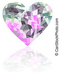 Broken heart on a white background, vector Eps 10...