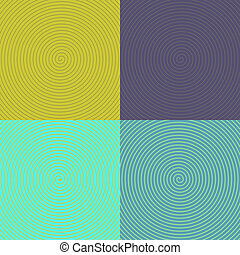 Optical Art. set of spirals. 10 eps
