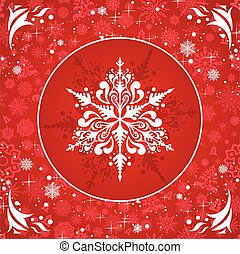 Vector snowflakes - Winter illustration with beautiful...