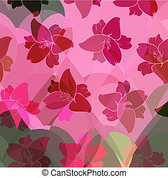 Floral pattern seamless retro. Anemones. vector illustration
