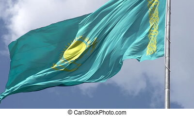 Flag of the Republic of Kazakhstan - Flag of the Kazakhstan...
