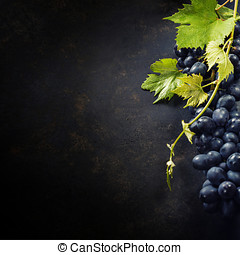 Grapes - Food background with Fresh Grapes Lots of copy...