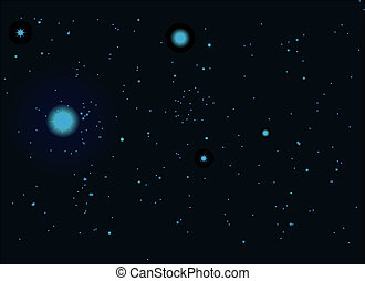 Night sky - the night starry sky vector illustration 10eps