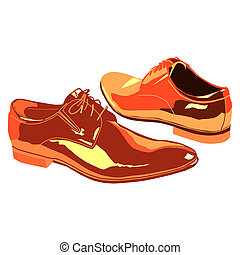 business shoes for men - vector business shoes for men...