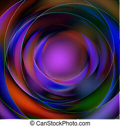 Colorful abstract circular background made of radial tracks