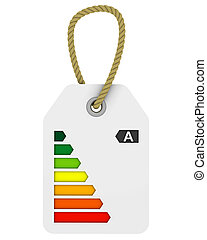 A class energy performance tag - Tag with A class energy...