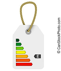 E class energy performance tag - Tag with E class energy...