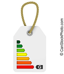 G class energy performance tag - Tag with G class energy...
