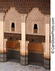Ali Ben Youssef Madrasa - Courtyard of Ali Ben Youssef...