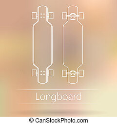 Contour ad layout for longboard - White outline mock up for...