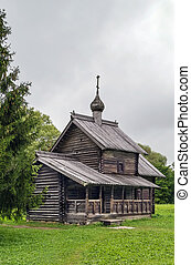 """Open-air Museum of Wooden Architecture """"Vitoslavlitsy"""", Russia"""