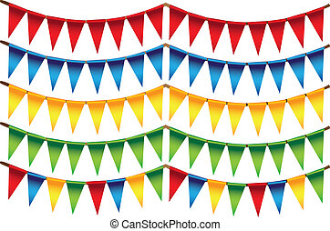 Small triangle colors flags - Small triangle flags in...