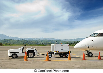 Electricity generator for airplane - Transportable...