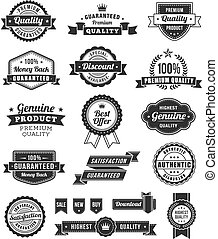 vector web design banners and elements - Set of many Black...