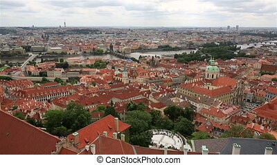 Historical center of Prague View from the tower of Saint...