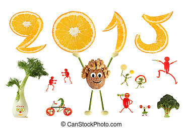 Healthy eating Funny little man of the walnut raises 2015