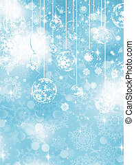 Blue Christmas Background. EPS 10 vector file included