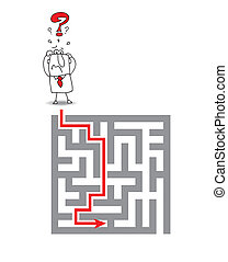 the complex maze - Joe has a big problem he wants to get...