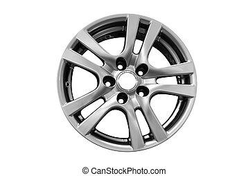 car rim - car aluminum wheel rim isolated