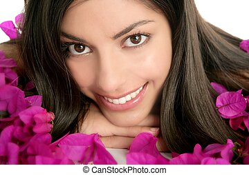 Beautiful indian and bougainvillea flowers - Beautiful...