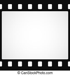 Simple black film strip background. Vector illustration