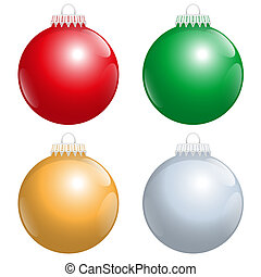 Christmas Tree Balls Red Green Gold - The four best-liked...