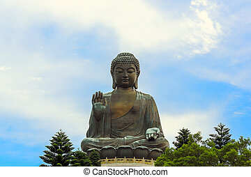 Giant Buddha Hong Kong - HDR: Tian Tan Giant Buddha at Po...