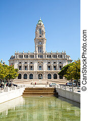Porto City Hall - City hall of Porto on Avenida dos Aliados...