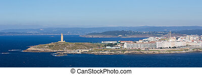 A Coruna - Tower of Hercules - View on the famous lighthouse...