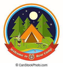 Welcome To Bear Camp badge - Welcome To Bear Camp circular...