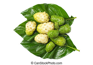 Noni isolated on white background
