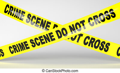 Crime scene tape Do not Cross