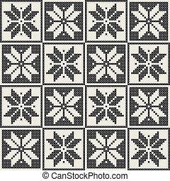 Seamless knit pattern