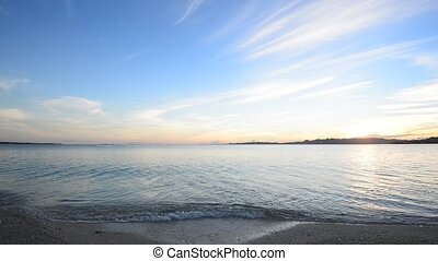 Beautiful beach in Okinawa - The cobalt blue sea and blue...