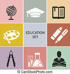 Education icons Set for you design