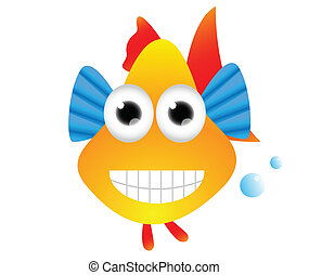 funny colorful fish cartoon